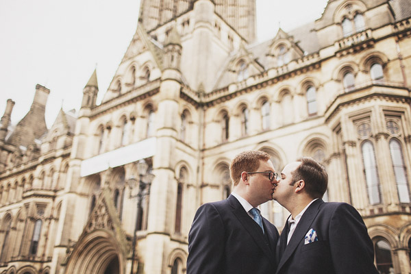 Manchester Town Hall civil partnership photography (James + George)
