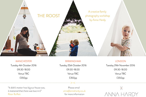 Creative family photography workshops, introducing The Roost!