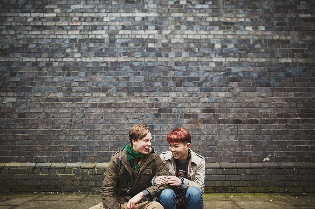 Castlefield, Manchester couple photography (Vincent + Sebastian)