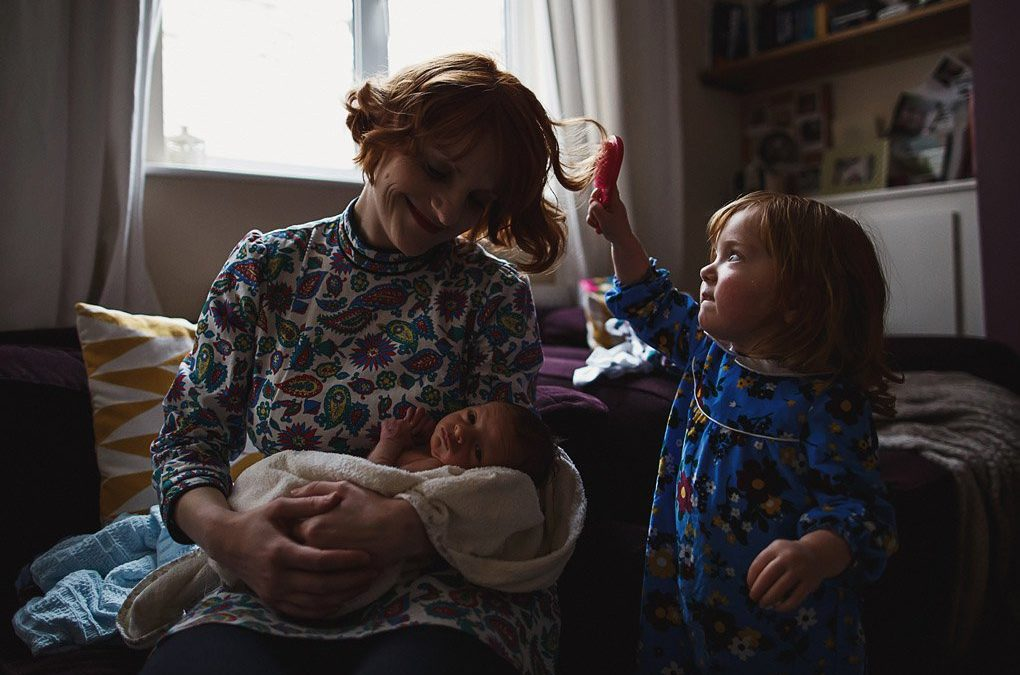 Nottinghamshire newborn family photographer {Gabs, Matt, Amelie + Jude}