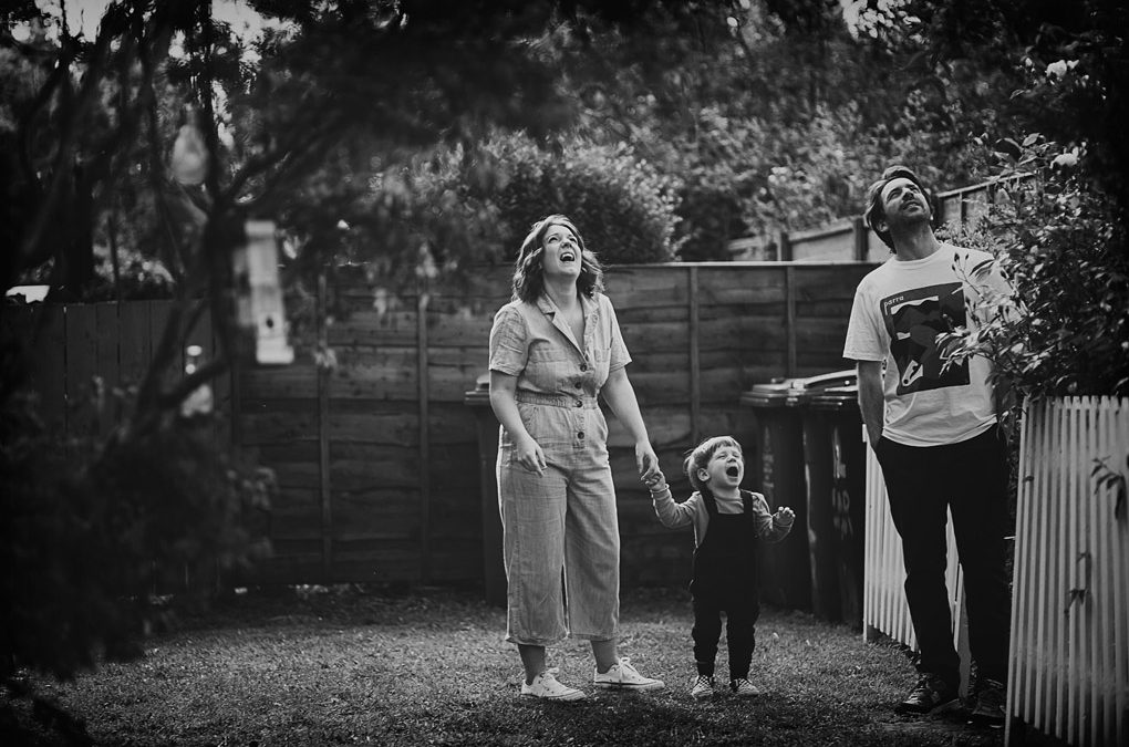 Urmston family photographer {Leanne, Andy + Ozzy's doorstep shoot + lockdown interview}